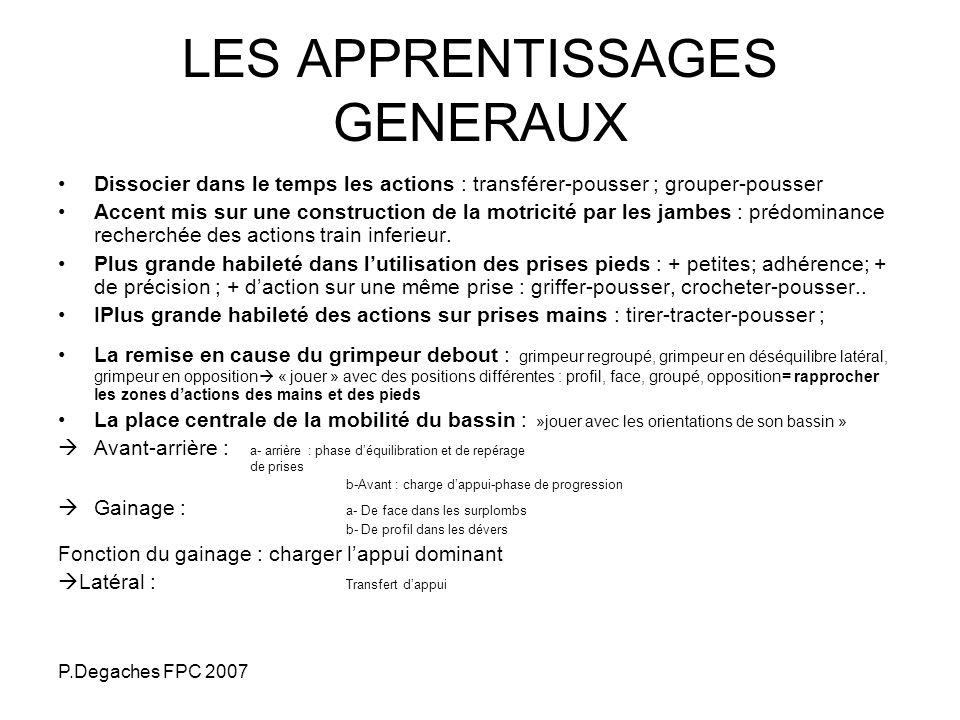 LES APPRENTISSAGES GENERAUX