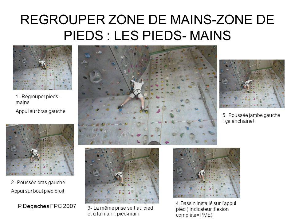 REGROUPER ZONE DE MAINS-ZONE DE PIEDS : LES PIEDS- MAINS