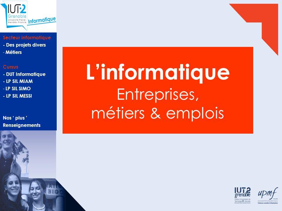 L'informatique Entreprises, métiers & emplois