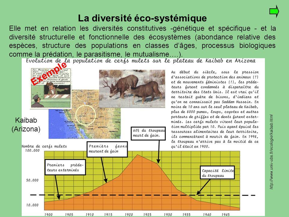La diversité éco-systémique