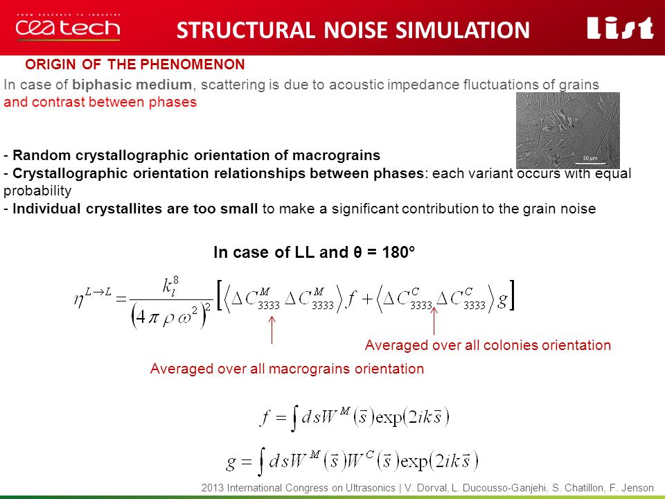Structural noise Simulation