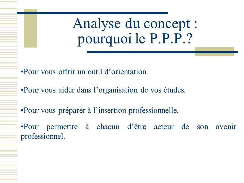 Analyse du concept : pourquoi le P.P.P.