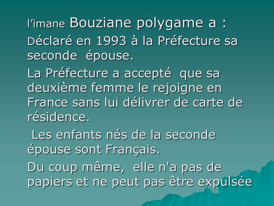 Les enfants nés de la seconde épouse sont Français.