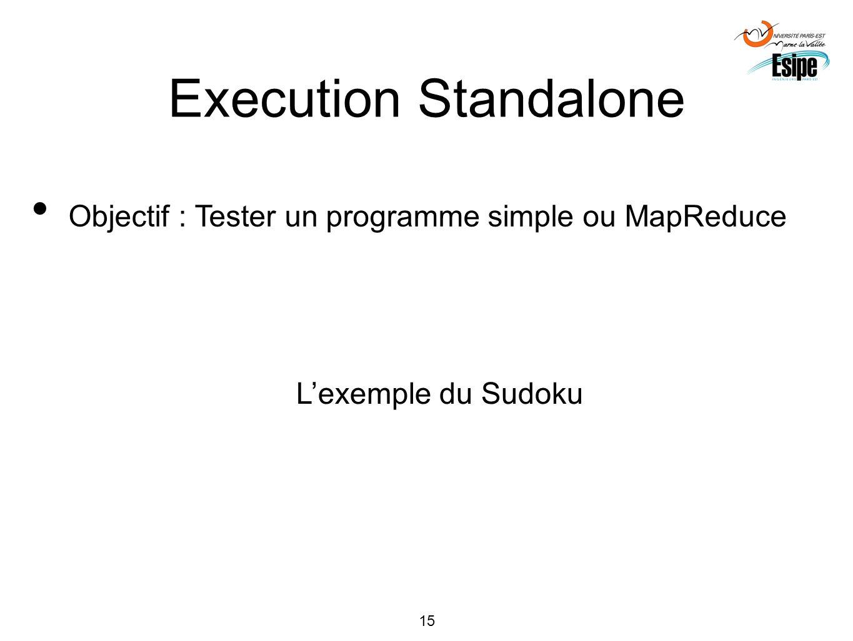 Execution Standalone Objectif : Tester un programme simple ou MapReduce L'exemple du Sudoku