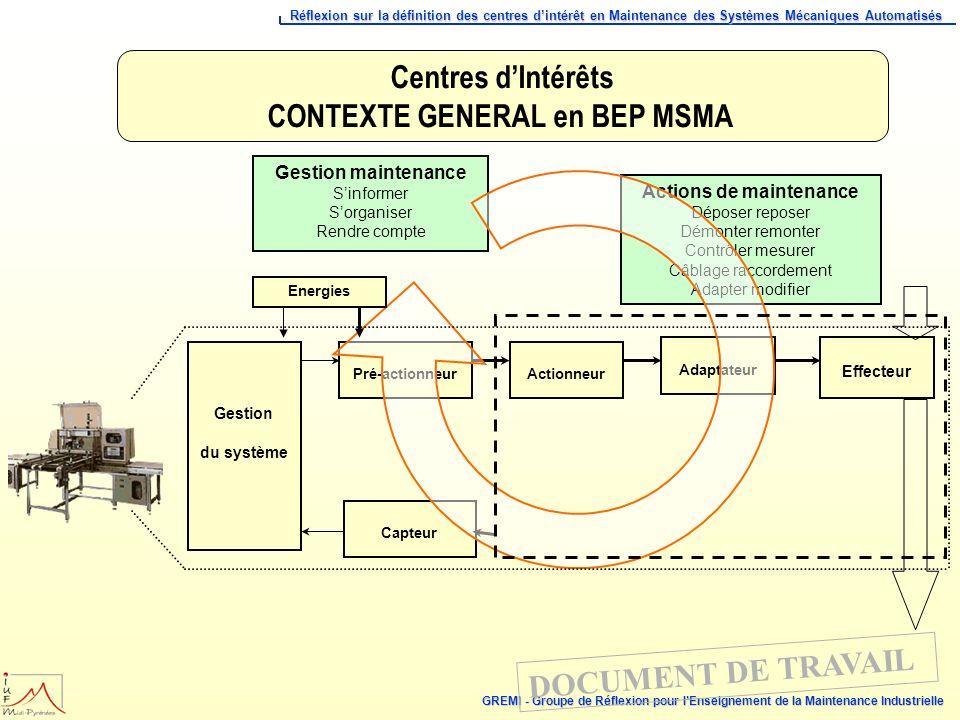 CONTEXTE GENERAL en BEP MSMA
