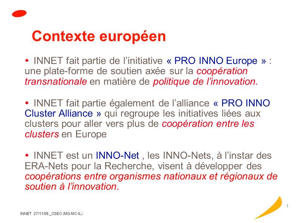 Contexte européen