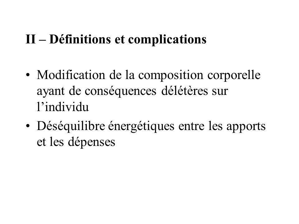 II – Définitions et complications