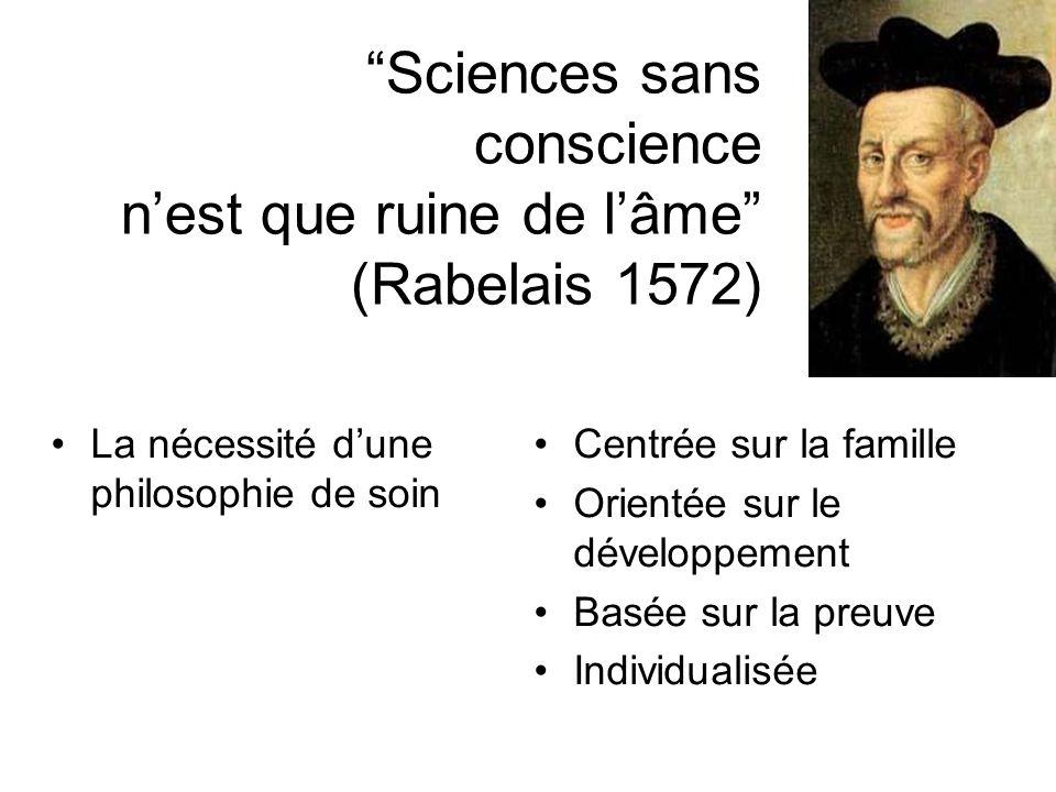 Sciences sans conscience n'est que ruine de l'âme (Rabelais 1572)