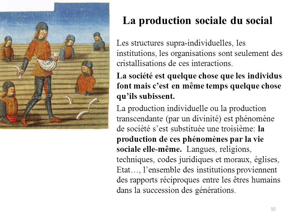 La production sociale du social