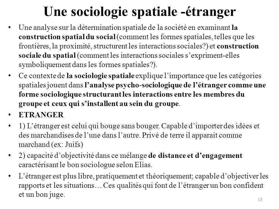 Une sociologie spatiale -étranger