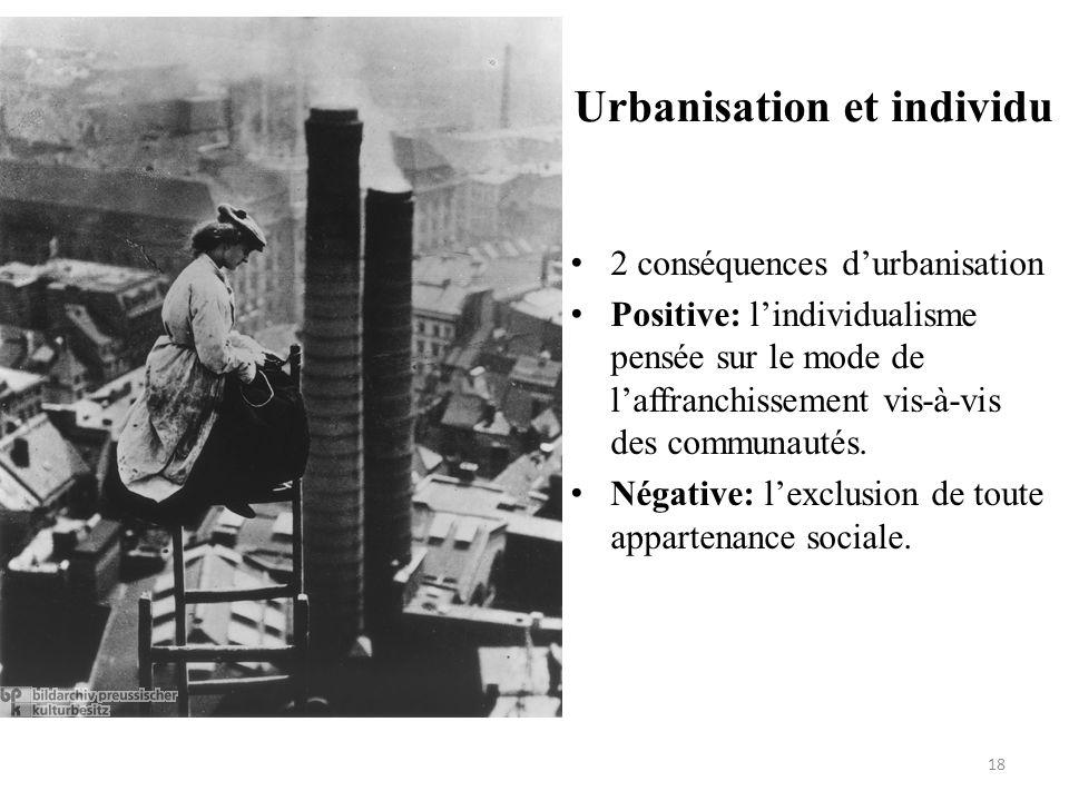 Urbanisation et individu