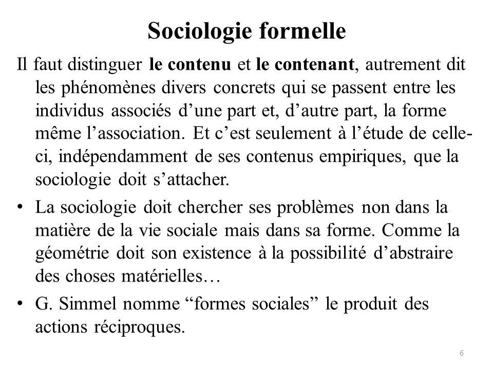 Sociologie formelle