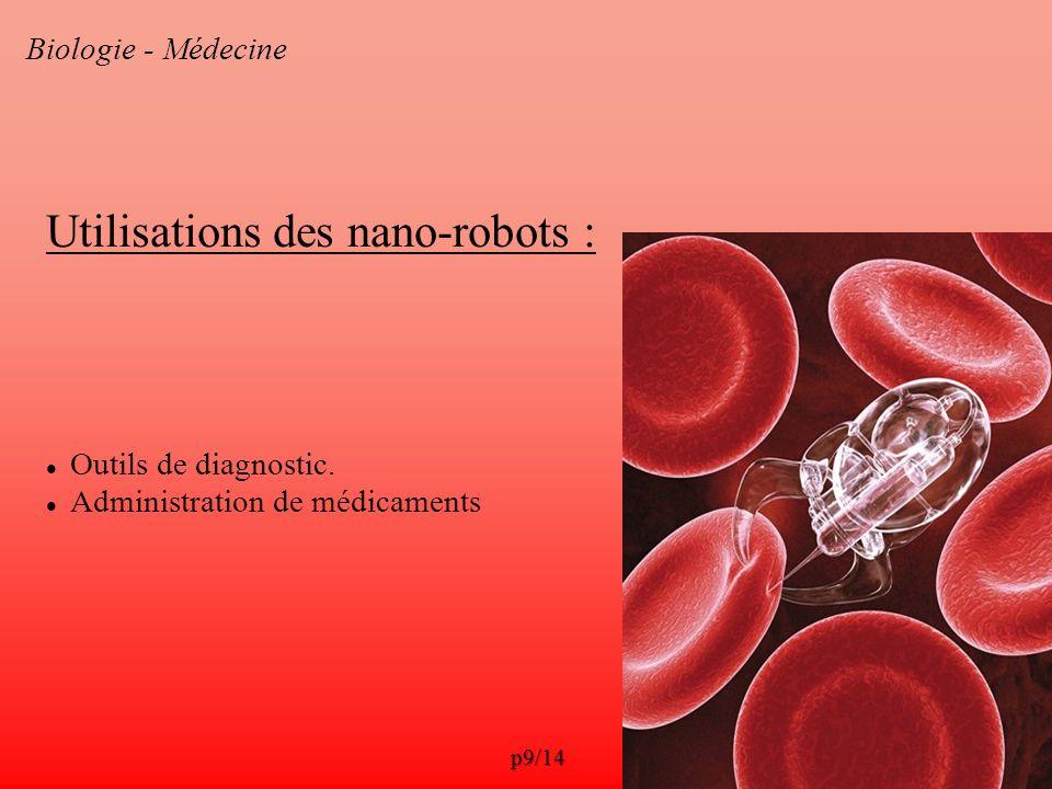 Utilisations des nano-robots :