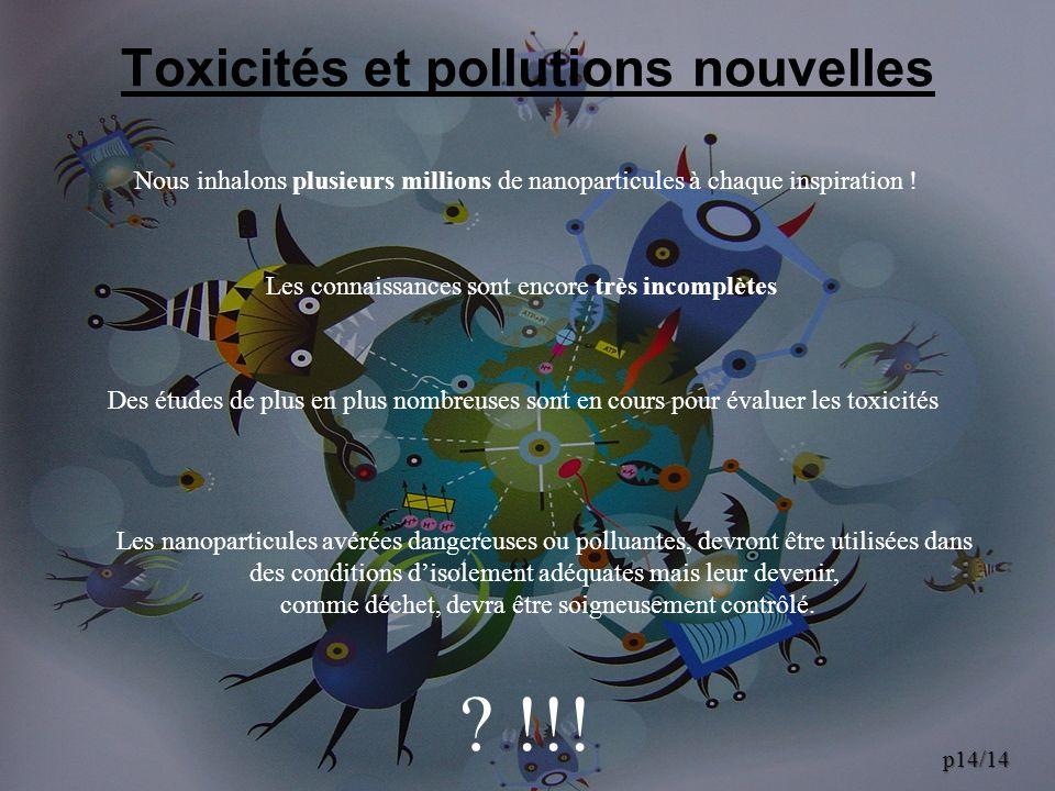 Toxicités et pollutions nouvelles