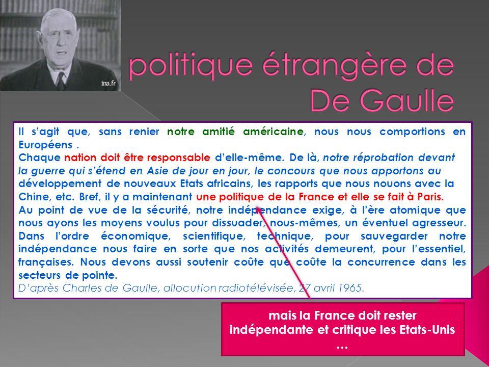 La politique étrangère de De Gaulle