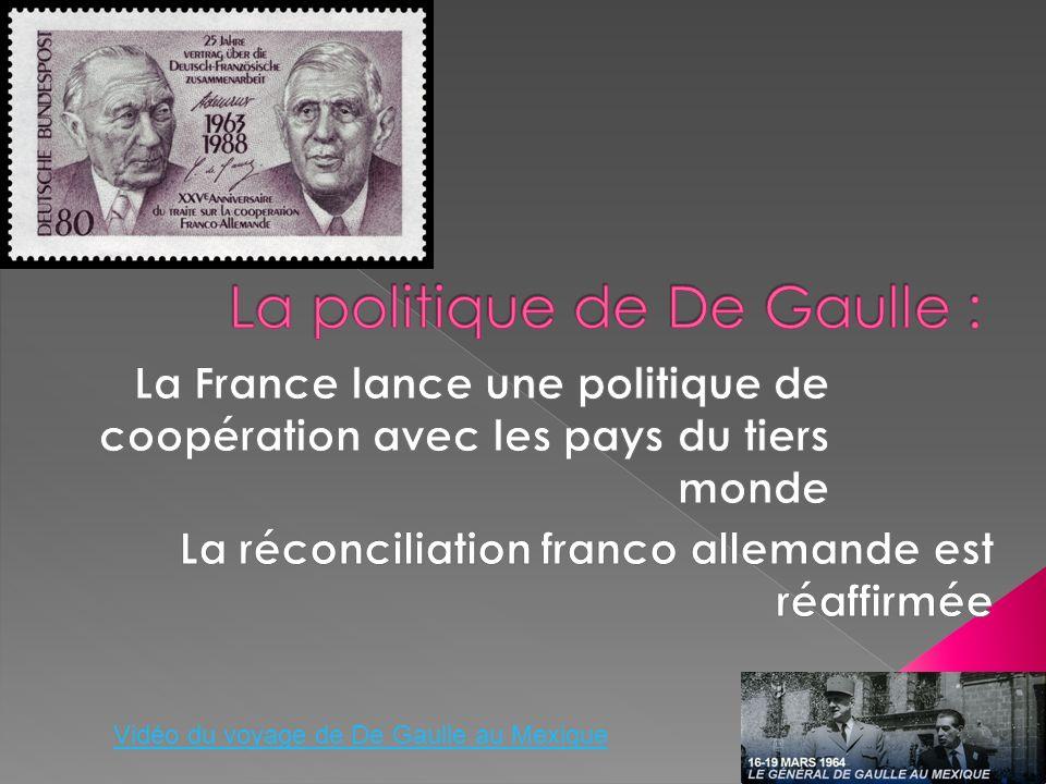La politique de De Gaulle :