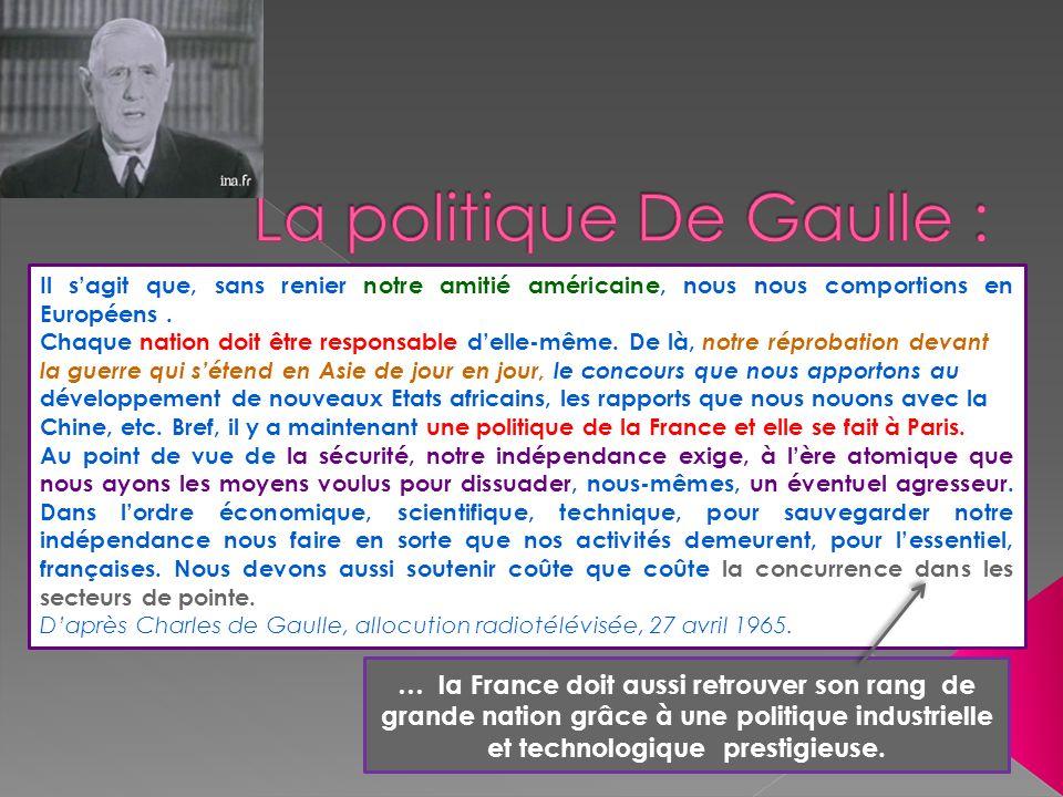 La politique De Gaulle :