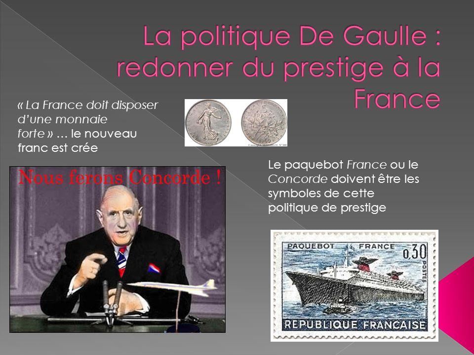 La politique De Gaulle : redonner du prestige à la France