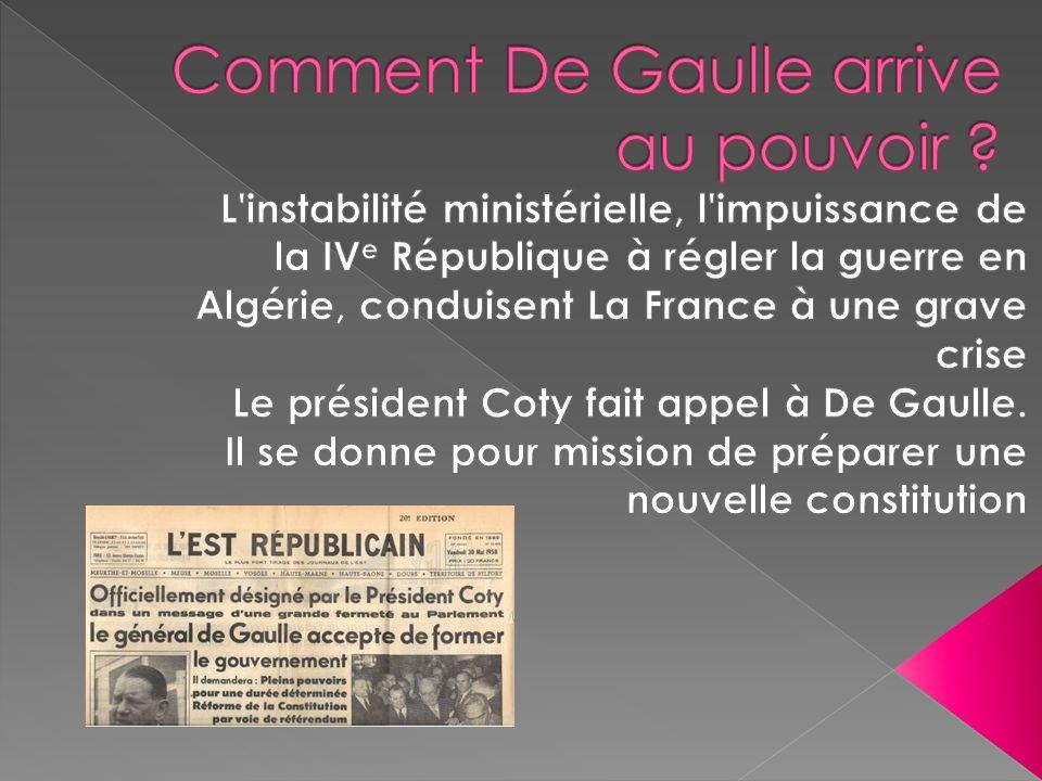 Comment De Gaulle arrive au pouvoir