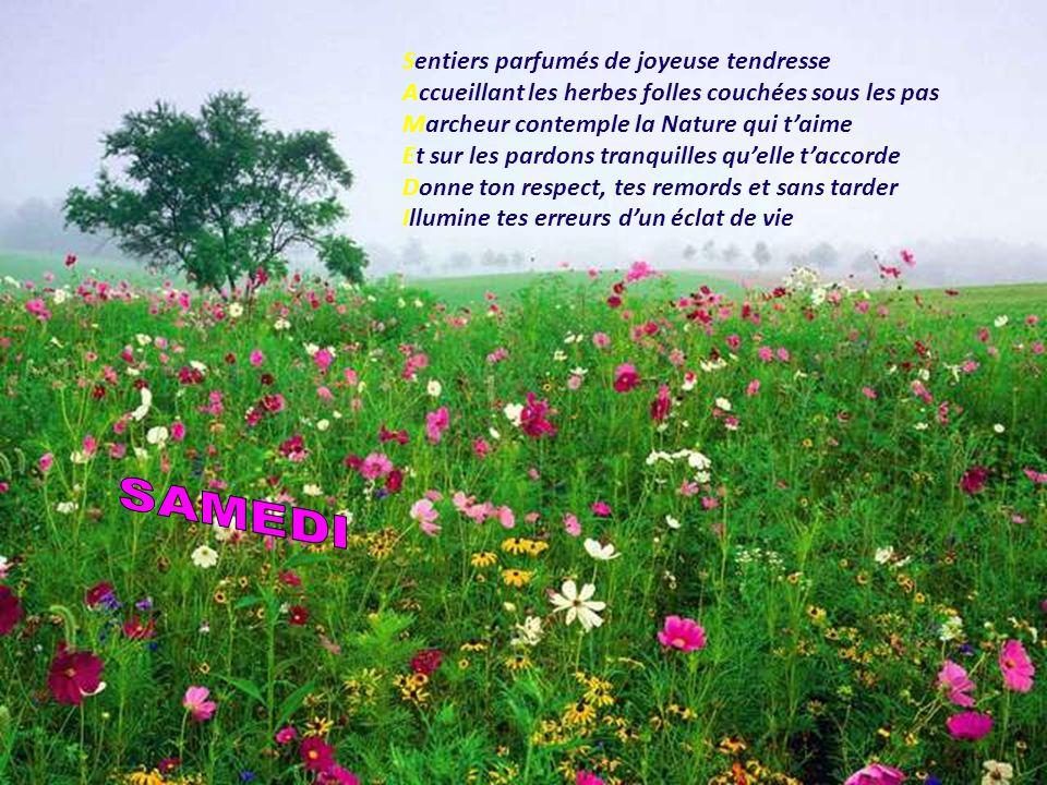 SAMEDI Sentiers parfumés de joyeuse tendresse