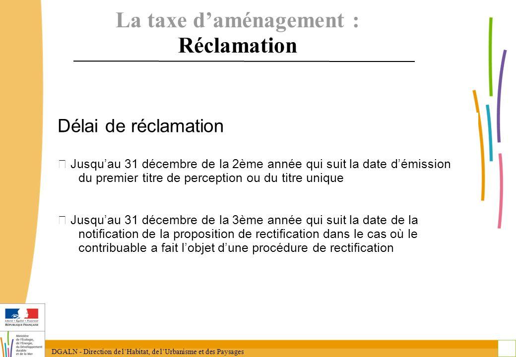 La taxe d'aménagement : Réclamation