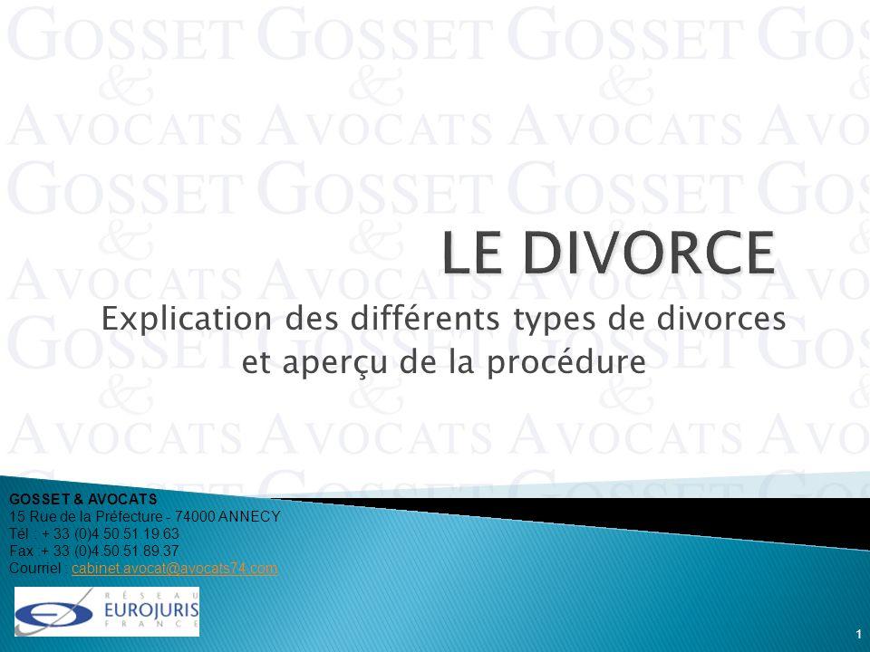 Explication des différents types de divorces et aperçu de la procédure