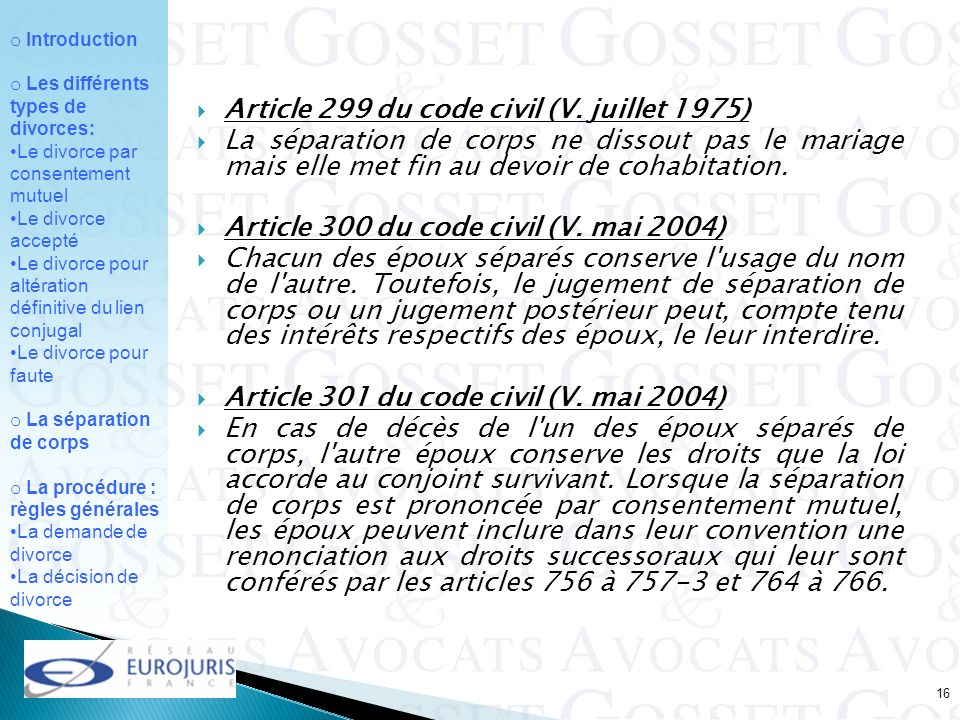Article 299 du code civil (V. juillet 1975)