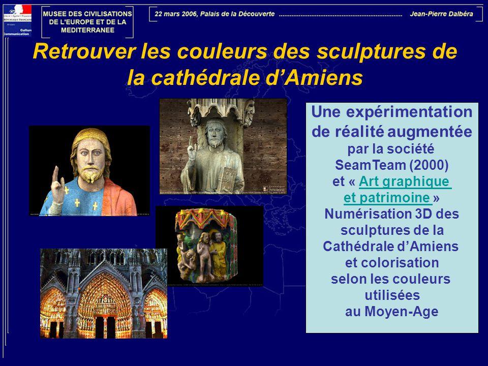 Retrouver les couleurs des sculptures de la cathédrale d'Amiens