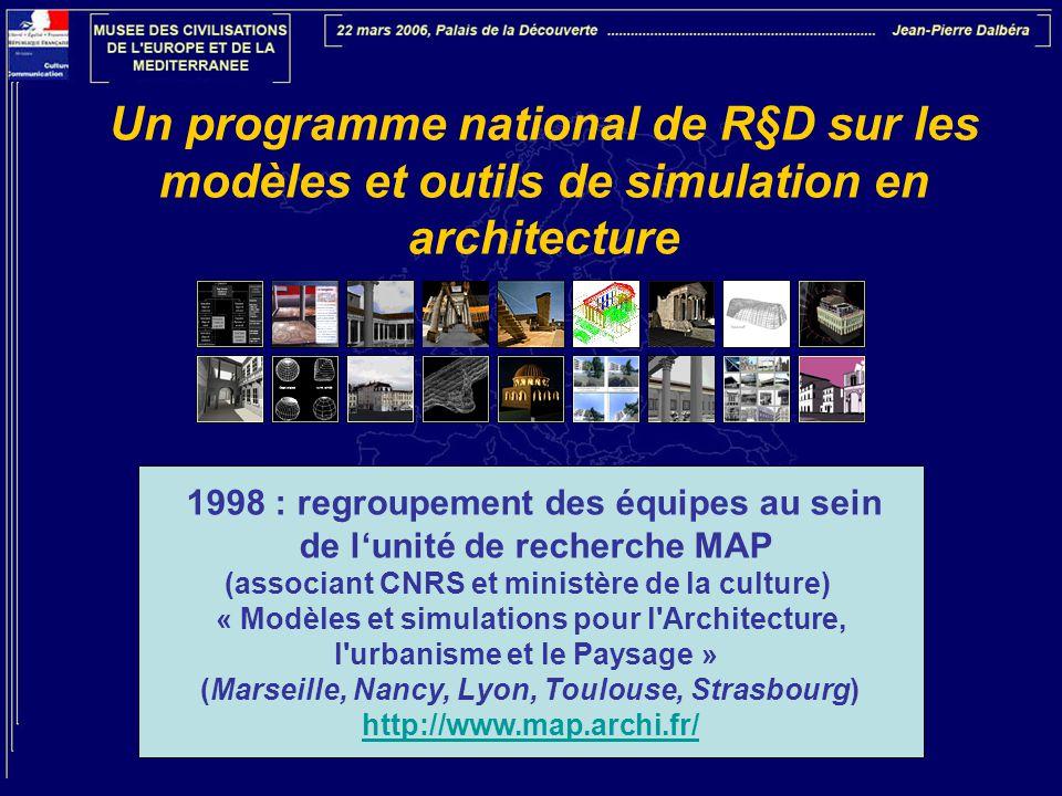 Un programme national de R§D sur les modèles et outils de simulation en architecture