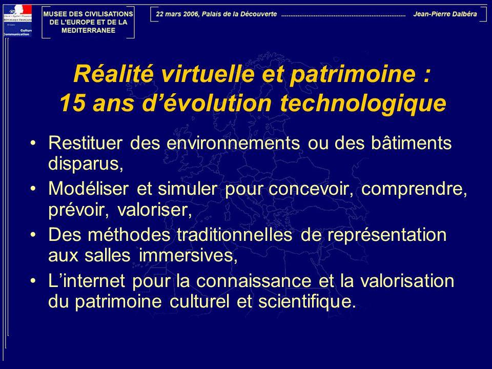Réalité virtuelle et patrimoine : 15 ans d'évolution technologique