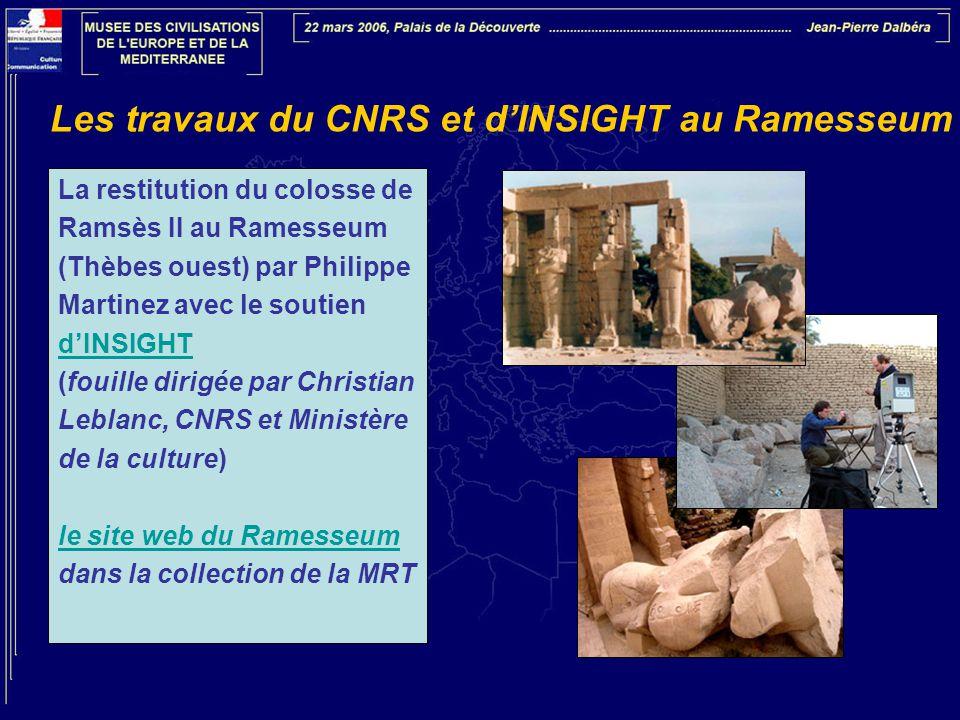 Les travaux du CNRS et d'INSIGHT au Ramesseum