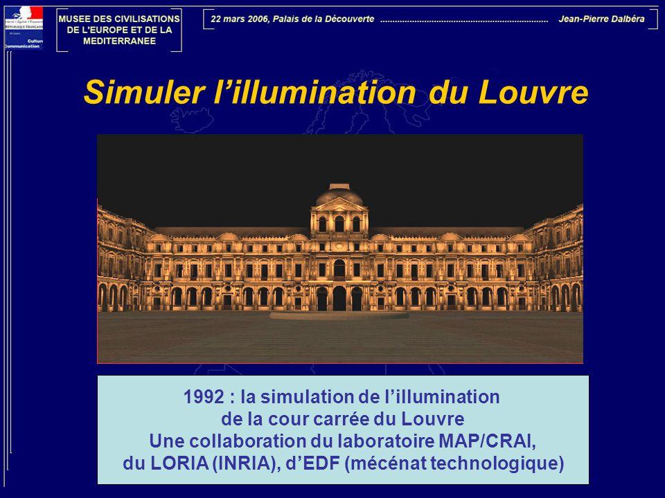 Simuler l'illumination du Louvre