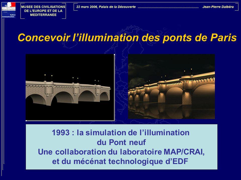 Concevoir l'illumination des ponts de Paris