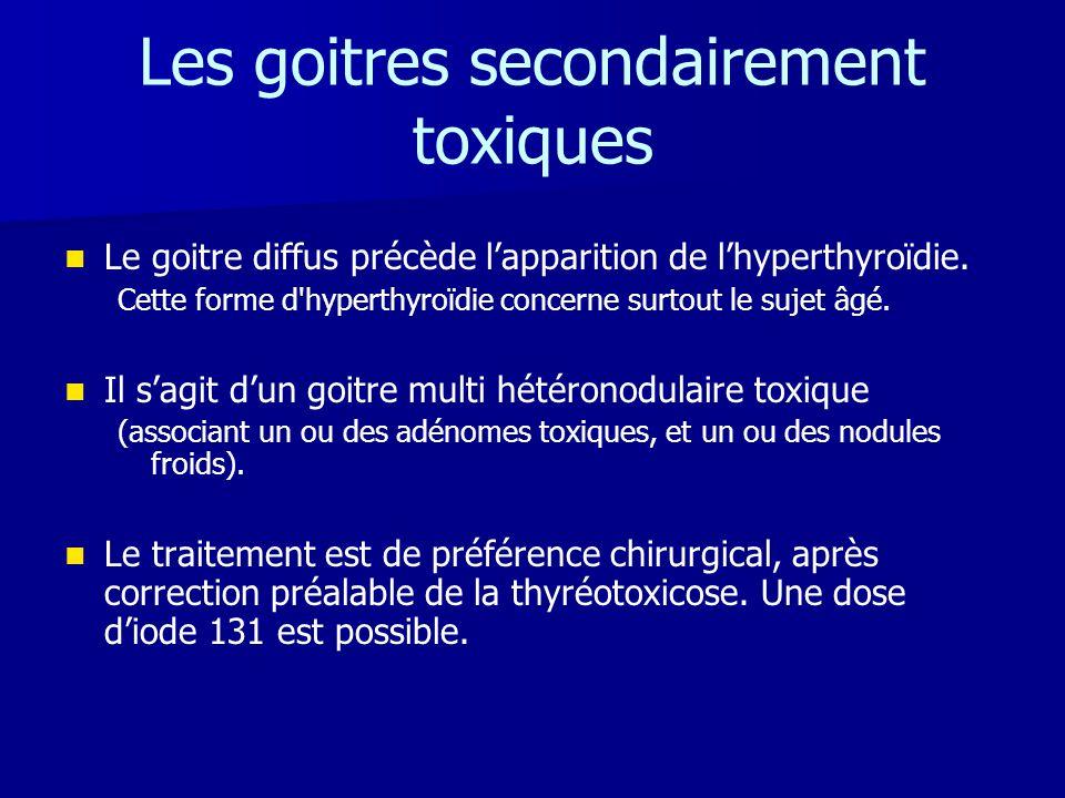 Les goitres secondairement toxiques