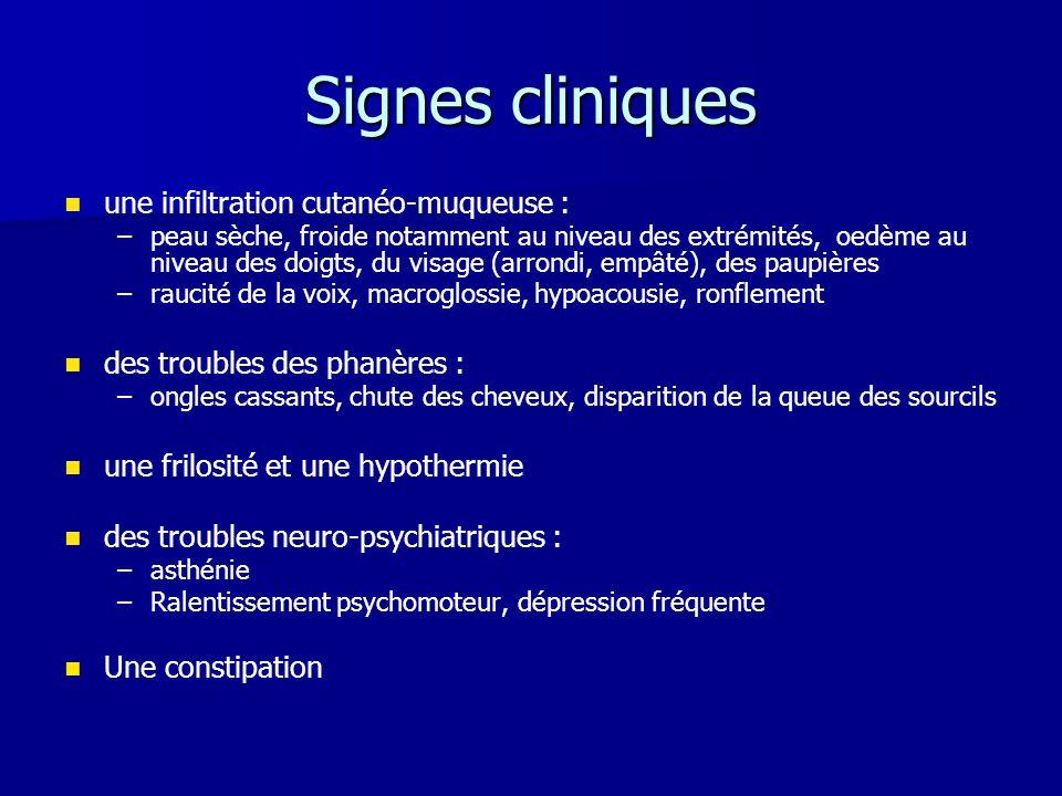 Signes cliniques une infiltration cutanéo-muqueuse :