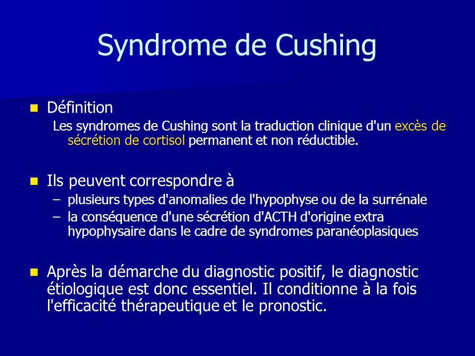 Syndrome de Cushing Définition Ils peuvent correspondre à