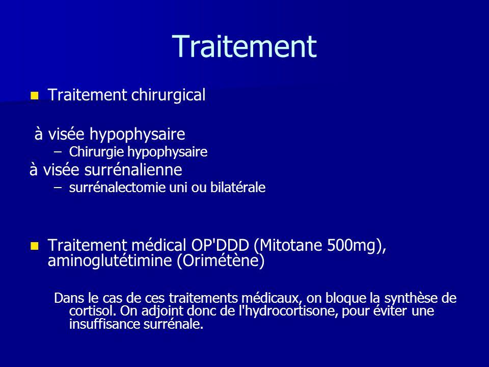 Traitement Traitement chirurgical à visée hypophysaire