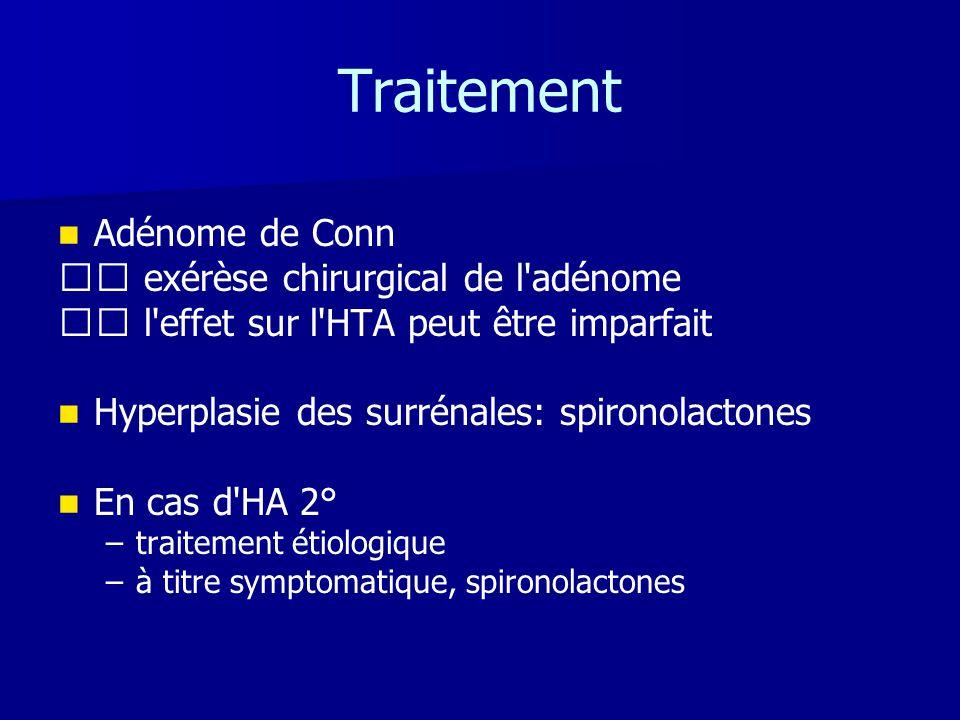 Traitement Adénome de Conn  exérèse chirurgical de l adénome
