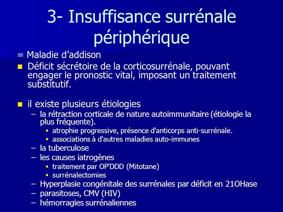 3- Insuffisance surrénale périphérique