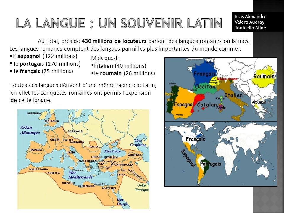 LA LANGUE : UN SOUVENIR LATIN