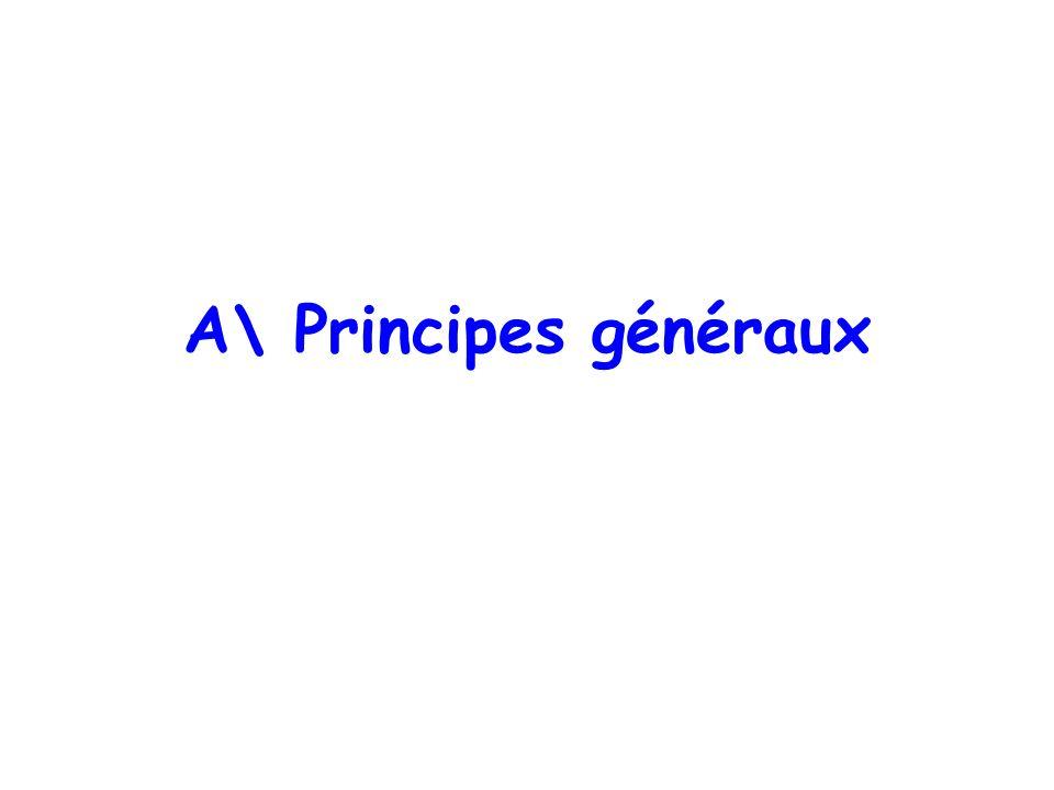 A\ Principes généraux