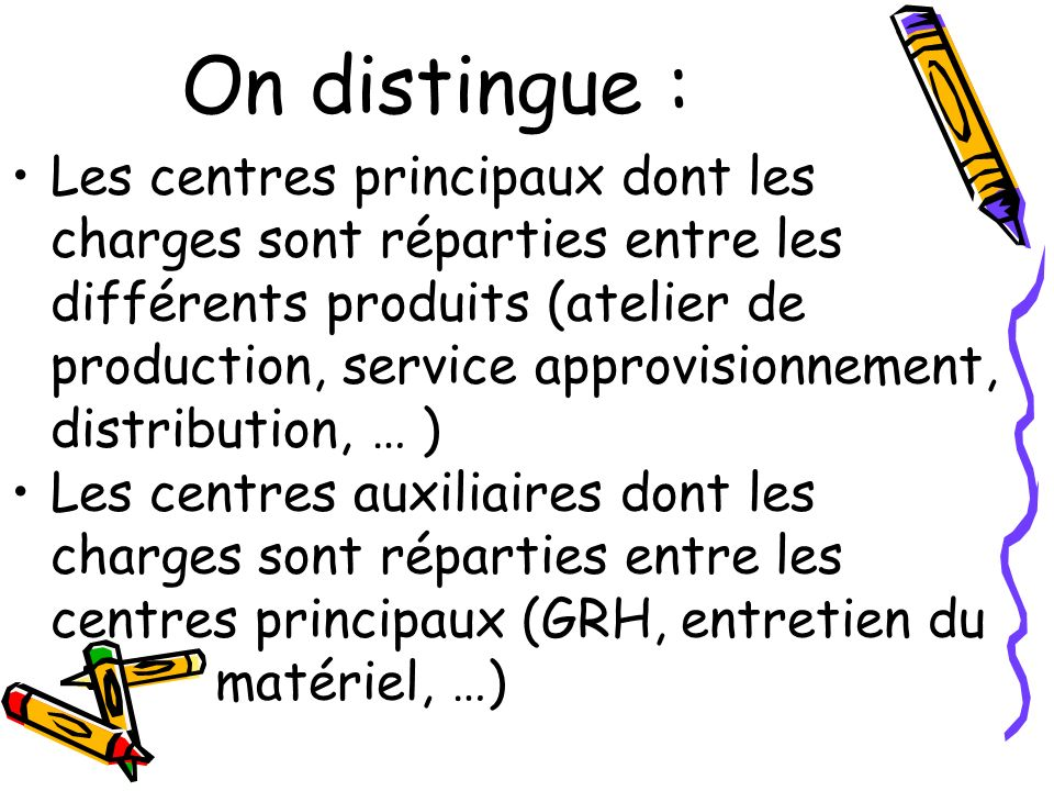 On distingue :