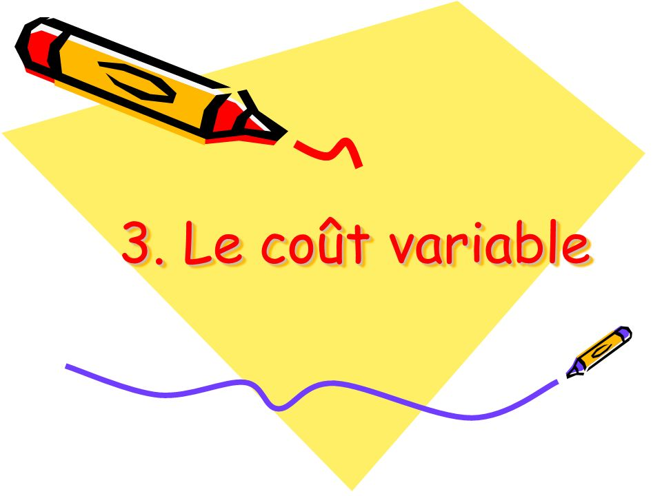 3. Le coût variable