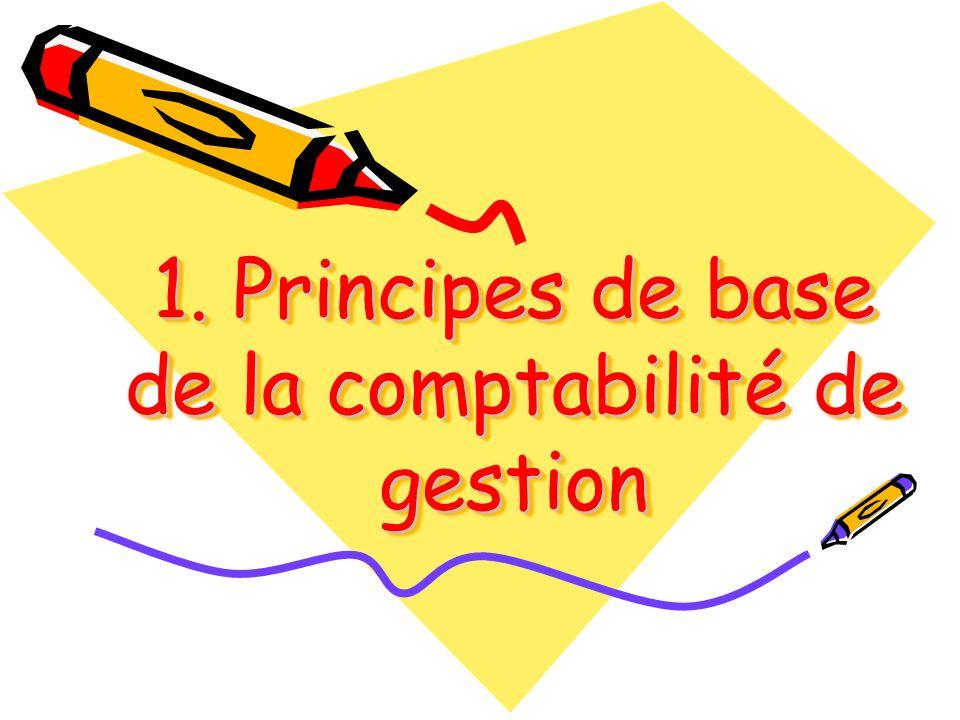 1. Principes de base de la comptabilité de gestion