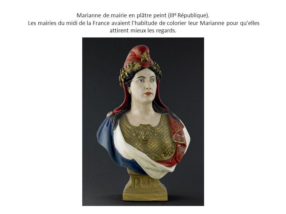 Marianne de mairie en plâtre peint (Ille République)