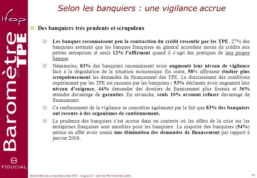 Selon les banquiers : une vigilance accrue