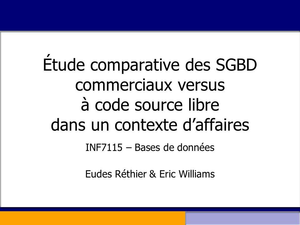 INF7115 – Bases de données Eudes Réthier & Eric Williams