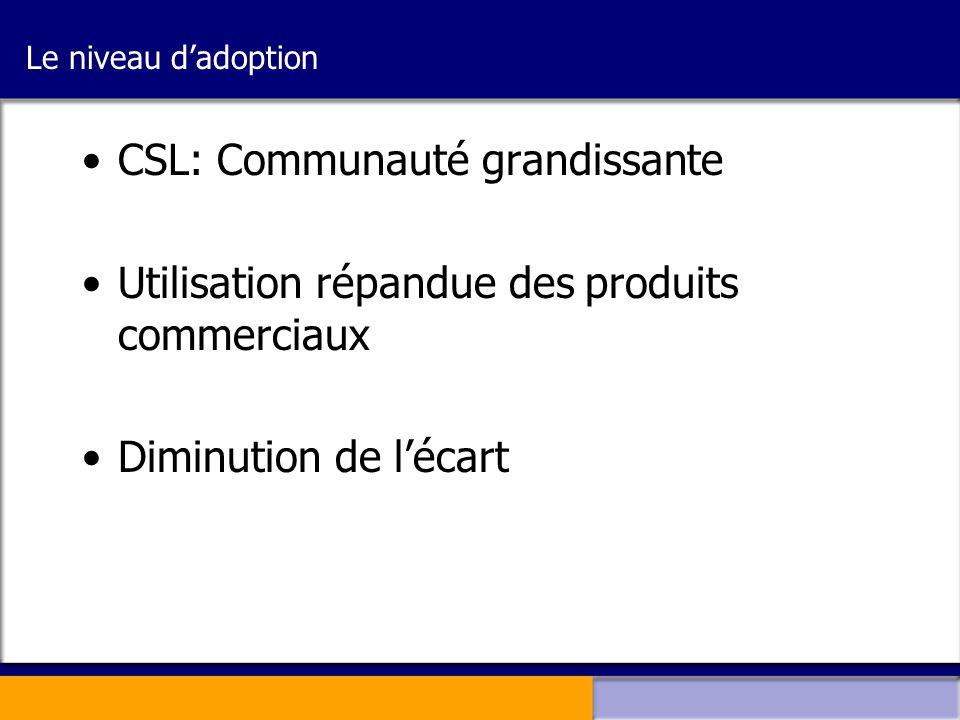 CSL: Communauté grandissante