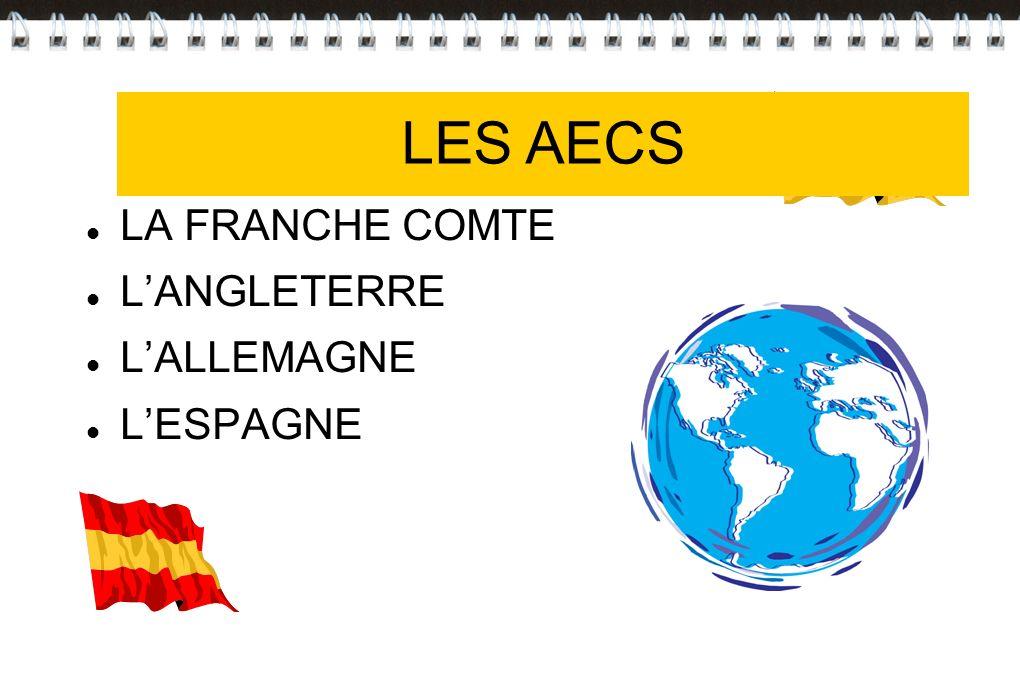 Les AECS LES AECS LA FRANCHE COMTE L'ANGLETERRE L'ALLEMAGNE L'ESPAGNE