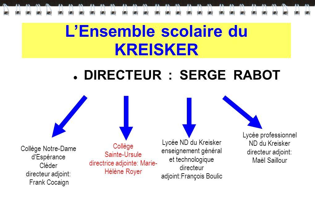 L'Ensemble scolaire du KREISKER DIRECTEUR : SERGE RABOT